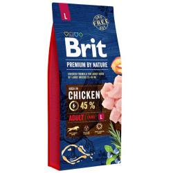 Brit Care - Brit Care Premium Large Tavuklu Büyük Irk Köpek Maması 15 Kg + 10 Adet Temizlik Mendili