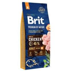 Brit Care - Brit Care Premium Medium Tavuklu Orta Irk Köpek Maması 15 Kg+10 Adet Temizlik Mendili