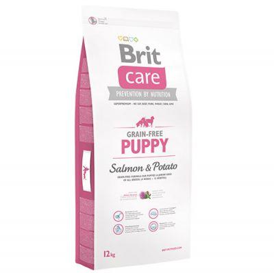 Brit Care Puppy Somonlu Yavru Tahılsız Köpek Maması 12 Kg + 5 Adet Temizlik Mendili
