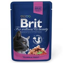 Brit Care - Brit Premium Salmon&Trout Somon ve Alabalıklı Kedi Yaş Maması 100 Gr