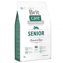 Brit Care - Brit Care Senior Kuzu Etli Yaşlı Köpek Maması 3 Kg+5 Adet Temizlik Mendili