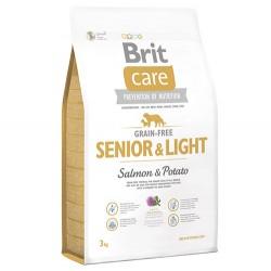 Brit Care - Brit Care Senior&Light Tahılsız Yaşlı Köpek Maması 3 Kg+5 Adet Temizlik Mendili