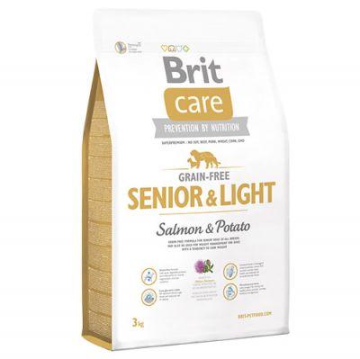 Brit Care Senior&Light Tahılsız Yaşlı Köpek Maması 3 Kg+5 Adet Temizlik Mendili