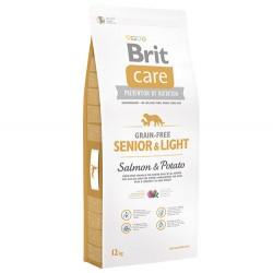 Brit Care - Brit Care Senior&Light Tahılsız Yaşlı Köpek Maması 12 Kg+10 Adet Temizlik Mendili
