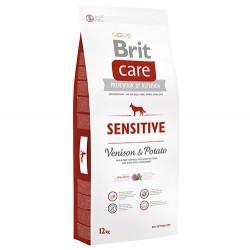 Brit Care - Brit Care Sensitive Geyik Etli Tahılsız Köpek Maması 12 Kg + 10 Adet Temizlik Mendili