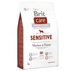 Brit Care - Brit Care Sensitive Geyik Etli Tahılsız Köpek Maması 3 Kg + 5 Adet Temizlik Mendili
