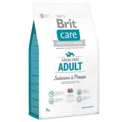 Brit Care - Brit Care Somonlu ve Patatesli Tahılsız Köpek Maması 3 Kg+5 Adet Temizlik Mendili