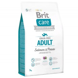 Brit Care Somonlu ve Patatesli Tahılsız Köpek Maması 3 Kg+5 Adet Temizlik Mendili - Thumbnail