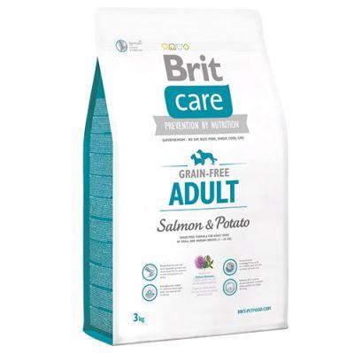 Brit Care Somonlu ve Patatesli Tahılsız Köpek Maması 3 Kg+5 Adet Temizlik Mendili