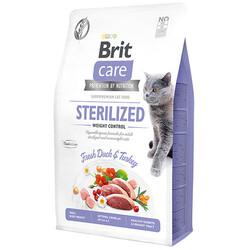 Brit Care - Brit Care Sterilised Ördek ve Hindi Tahılsız Kısırlaştırılmış Kedi Maması 2 Kg + 5 Adet Temizlik Mendili