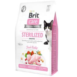 Brit Care - Brit Care Sterilised Sensitive Tavşan Etli Tahılsız Kısırlaştırılmış Kedi Maması 7 Kg + 10 Adet Mendil