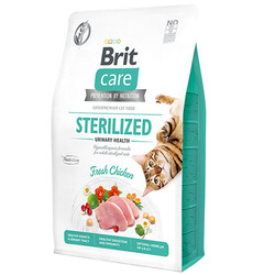 Brit Care - Brit Care Sterilised Urinary Tavuk Etli Tahılsız Kısırlaştırılmış Kedi Maması 2 Kg + 5 Adet Mendil