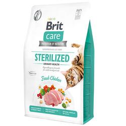 Brit Care - Brit Care Sterilised Urinary Tavuk Etli Tahılsız Kısırlaştırılmış Kedi Maması 7 Kg + 10 Adet Mendil