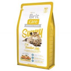 Brit Care - Brit Care Sunny Beautiful Hair Deri ve Tüy Sağlığı Kedi Maması 7 Kg + 5 Adet 100 Gr Yaş Mama