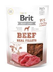 Brit Care - Brit Jerky Snack Beef and Chicken Fillets Tahılsız Biftek ve Tavuklu Fileto Köpek Ödülü 80 Gr