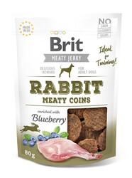 Brit Care - Brit Jerky Snack Meaty Coins with Rabbit Tahılsız Tavşanlı Yuvarlak Köpek Ödülü 80 Gr