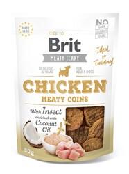 Brit Care - Brit Jerky Snack Meaty Coins with Insect Tahılsız Tavuklu ve Böcekli Yuvarlak Köpek Ödülü 80 Gr