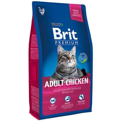 Brit Premium Adult Chicken Tavuk Etli Kedi Maması 8 Kg + 5 Adet Temizlik Mendili