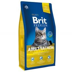 Brit Care - Brit Premium Adult Somonlu Kedi Maması 8 Kg + 5 Adet Temizlik Mendili