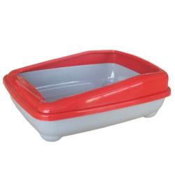 Cado Pet - Cado Pet Açık Kedi Tuvaleti Kum Kabı 17x37x47 Cm (Kırmızı)+Kürek