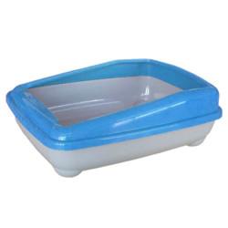 Cado Pet - Cado Pet Açık Kedi Tuvaleti Kum Kabı 17x37x47 Cm (Mavi)+Kürek
