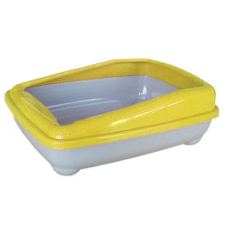 Cado Pet - Cado Pet Açık Kedi Tuvaleti Kum Kabı 17x37x47 Cm (Sarı)+Kürek