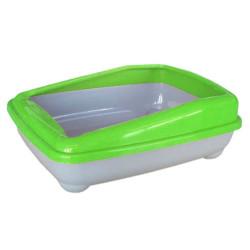 Cado Pet - Cado Pet Açık Kedi Tuvaleti Kum Kabı 17x37x47 Cm (Yeşil)+Kürek