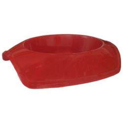 Cado Pet - Cado Pet Plastik Kedi Köpek Mama Su Kabı 250 ML (Kırmızı)