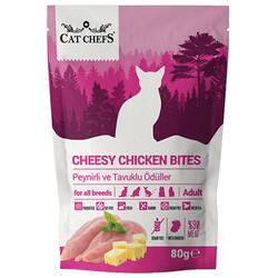 Cat Chefs - Cat Chefs Cheesy Chicken Peynirli ve Tavuk Etli Tahılsız Kedi Ödülü 80 Gr