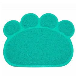 Diğer / Other - Cat Litter Tuvalet Kabı Önü Pati Figürlü Kedi Paspası (Yeşil) 60x45 Cm
