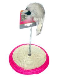 Catia - Eastland Hasır Tabanlı Yaylı Kedi Tırmalama Oyuncağı