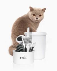 Catit 4000 Kedi Bakım Seti (3 Adet Tarak Makas Fırça) - Thumbnail