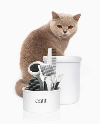 Catit 4000 Kedi Bakım Seti (3 Adet Tarak, Makas, Fırça)