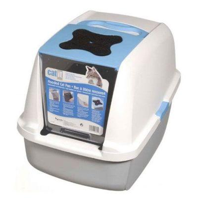Catit 50701 Büyük Boy Kapalı Filtreli Kedi Tuvaleti ( Mavi - Beyaz )