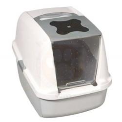 Catit - Catit 50702 Büyük Boy Kapalı Filtreli Kedi Tuvaleti ( Gri - Beyaz )