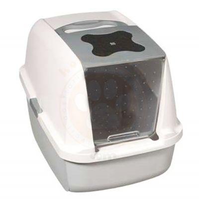 Catit 50702 Büyük Boy Kapalı Filtreli Kedi Tuvaleti ( Gri - Beyaz )