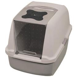 Catit - Catit 50722 Büyük Boy Kapalı Filtreli Kedi Tuvaleti (Gri - Gri)