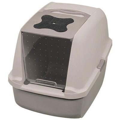 Catit 50722 Büyük Boy Kapalı Filtreli Kedi Tuvaleti (Gri - Gri)