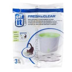 Catit - Catit 55601 Fresh&Clear Su Kabı Karbon Filtresi (3 lü Karbon)