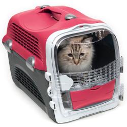 Catit - Catit Cabrio Kedi ve Küçük Irk Köpek Taşıma Çantası Kırmızı/Gri