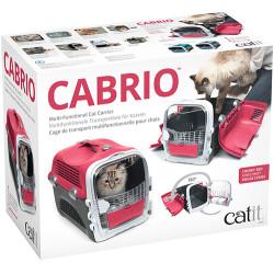 Catit Cabrio Kedi ve Küçük Irk Köpek Taşıma Çantası Kırmızı / Gri - Thumbnail