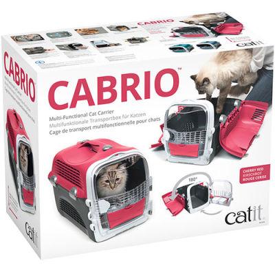 Catit Cabrio Kedi ve Küçük Irk Köpek Taşıma Çantası Kırmızı / Gri