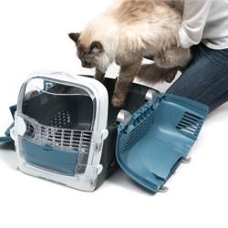 Catit Cabrio Kedi ve Küçük Irk Köpek Taşıma Çantası Mavi / Gri - Thumbnail