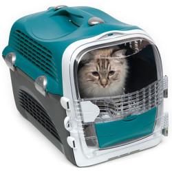 Catit - Catit Cabrio Kedi ve Küçük Irk Köpek Taşıma Çantası Turkuaz/Gri