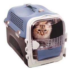 Catit - Catit Cabrio Kedi ve Küçük Irk Köpek Taşıma Çantası Mavi/Gri