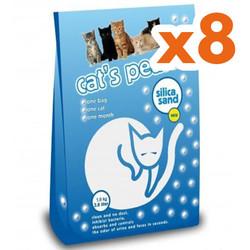 Cats Pearls - Cats Pearls Doğal Silika Kedi Kumu 3,8 Lt-(8 Adet)
