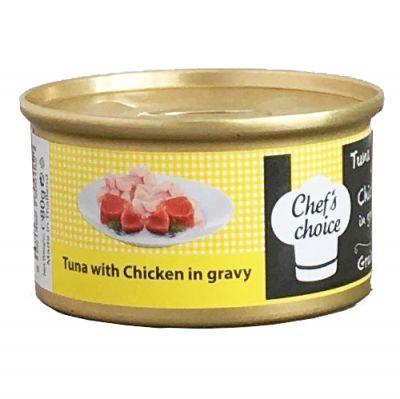 Chefs Choice Gravy Ton Balıklı ve Tavuklu Soslu Tahılsız Kedi Konservesi 80 Gr