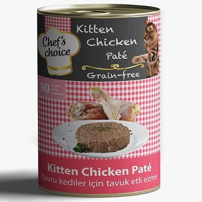 Chefs Choice Kitten Pate Tavuk Etli Ezme Tahılsız Yavru Kedi Konservesi 400 Gr