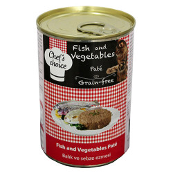 Chefs Choice - Chefs Choice Pate Balık ve Sebze Ezme Tahılsız Kedi Konservesi 400 Gr