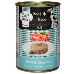 Chefs Choice - Chefs Choice Pate Beef Biftekli Ezme Köpek Konservesi 400 Gr